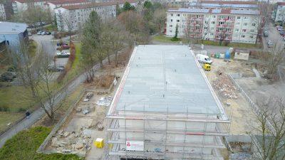 Flachdachsanierung in Hoyerswerda Fabrikat: System Bauder